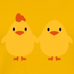 Chicks lovers cock and hen T-Shirts - Men's Premium T-Shirt