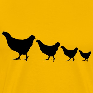 Small and large ongoing chickens T-Shirts - Men's Premium T-Shirt