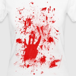 Splashes of blood / blood Smeared T-Shirts - Frauen Bio-T-Shirt