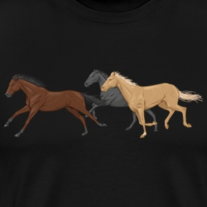 Three Horses T-Shirts - Men's Premium T-Shirt