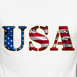 united states 19 Tee shirts manches longues - T-shirt baseball manches longues Homme