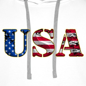 united states 19 Sweat-shirts - Sweat-shirt à capuche Premium pour hommes