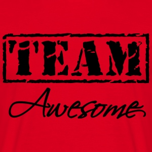 Team Awesome T-shirts - Herre-T-shirt