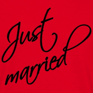 Just married T-shirts - Herre-T-shirt