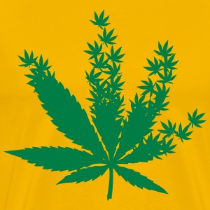 Cannabis from cannabis leaves  T-Shirts - Men's Premium T-Shirt