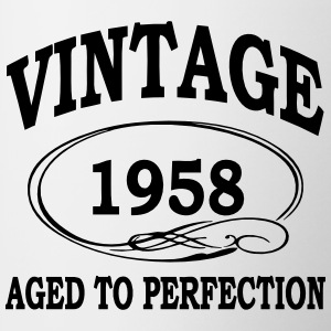 Vintage 1957 Aged To Perfection Bottles & Mugs - Contrasting Mug