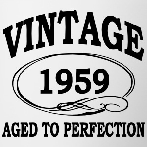 Vintage 1959 Aged To Perfection Bottles & Mugs - Contrasting Mug