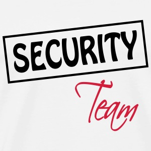 Security Team T-shirts - Herre premium T-shirt