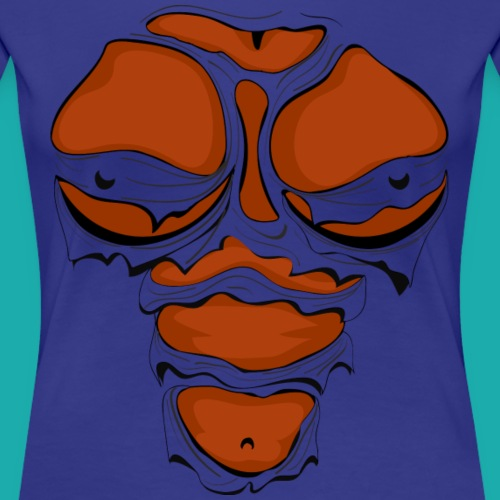Ripped Muscles Female, chest T-shirt, comicbook b