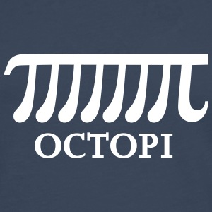 Math Pi Octopi Joke Nerdy Geek Mathematics Science Long sleeve shirts - Men's Premium Longsleeve Shirt
