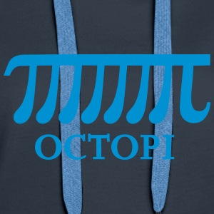 Math Pi Octopi Joke Nerdy Geek Mathematics Science Tröjor - Premiumluvtröja dam