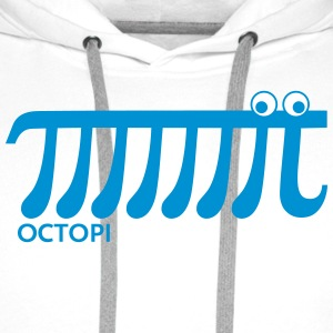 Math Pi Octopi Nerd Geek Joke Mathematics Teacher Tröjor - Premiumluvtröja herr