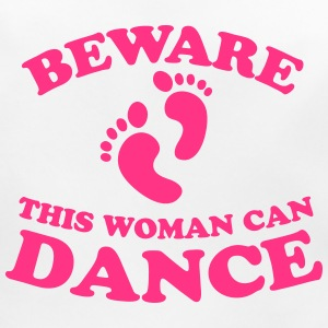 BEWARE this woman can dance Accessories - Baby Organic Bib