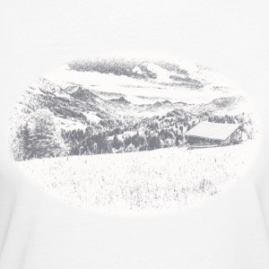Country T-Shirt Allgäu Landschaft blue - Frauen Bio-T-Shirt