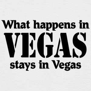 What happens in Vegas, stays in Vegas T-Shirts - Männer Baseball-T-Shirt