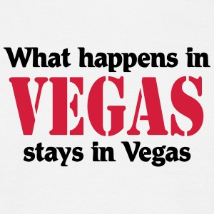 What happens in Vegas, stays in Vegas T-shirts - T-shirt herr