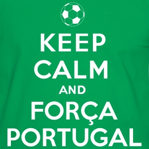 Keep calm and Forca Portugal - T-shirt contraste Homme