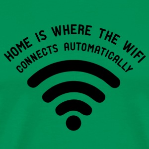 Home is where the wifi - black - Männer Premium T-Shirt