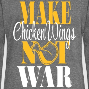 Make Chicken Wings Not War Pullover & Hoodies - Frauen Pullover mit U-Boot-Ausschnitt von Bella