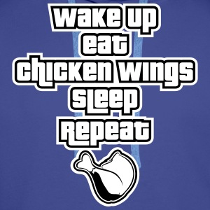 Wake Up and Eat Chicken Wings Pullover & Hoodies - Männer Premium Hoodie