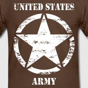 us vintage army star 02 T-Shirts - Men's Ringer Shirt