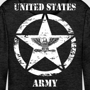 us vintage army star 03 Sweat-shirts - Sweat-shirt à capuche Premium pour hommes