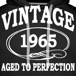 Vintage 1965 Aged To Perfection Hoodies & Sweatshirts - Men's Premium Hoodie