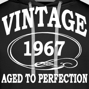 Vintage 1967 Aged To Perfection Hoodies & Sweatshirts - Men's Premium Hoodie