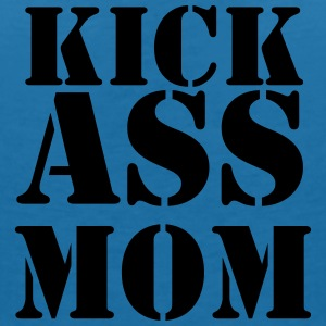 Kick ass Mom T-shirts - T-shirt med v-ringning dam