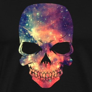 Universe - Space - Galaxy Skull T-Shirts - Men's Premium T-Shirt