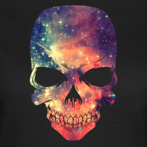 Universe - Space - Galaxy Skull T-Shirts - Women's T-Shirt