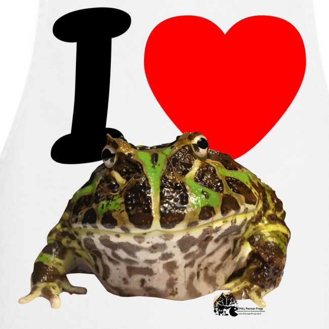 """Grillschürze - """"I love Pacman Frogs"""""""