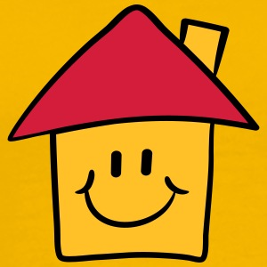 Morsom tegnefilm smiley House T-skjorter - Premium T-skjorte for menn