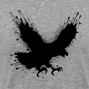 Abstract splashes of color - Street art bird  T-shirts - Mannen Premium T-shirt