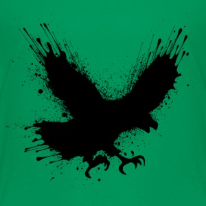 Abstract splashes of color - Street art bird  Skjorter - Premium T-skjorte for barn