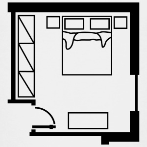 bedroom_ floor_ plan _p1 Shirts - Teenage Premium T-Shirt