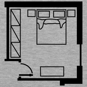 bedroom_ floor_ plan _p1 Hoodies & Sweatshirts - Women's Premium Hoodie