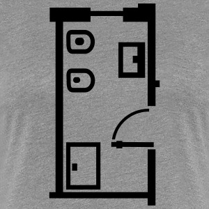 bathroom _floor _plan _p1 T-Shirts - Women's Premium T-Shirt