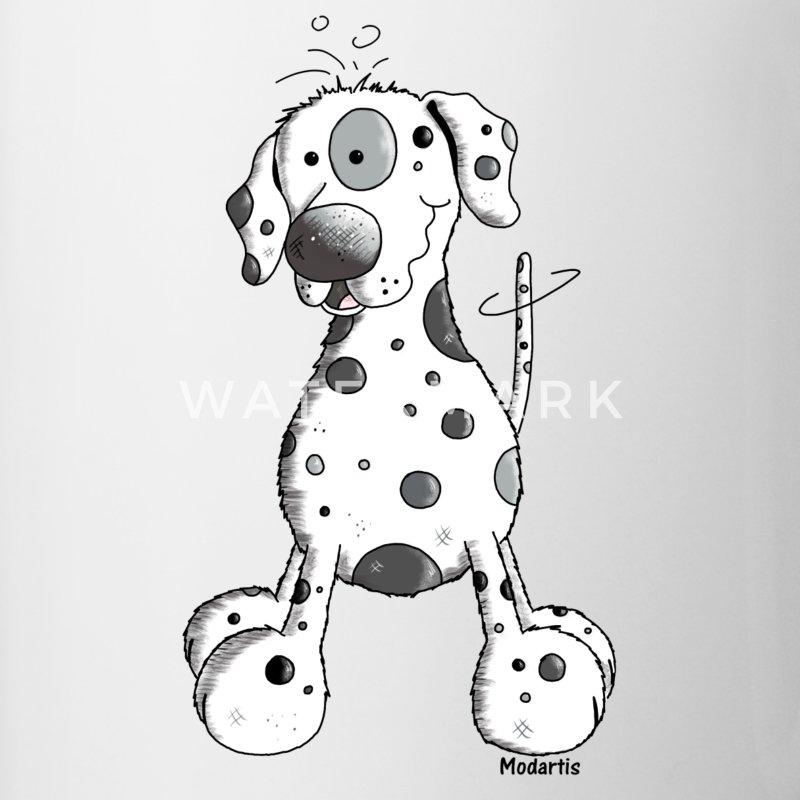 Tassen Hund : Drolliger dalmatiner hund tasse spreadshirt