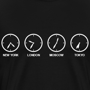 Time zones world watches  T-Shirts - Men's Premium T-Shirt