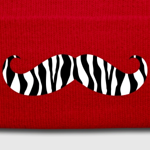 A zebra mustache  Caps & Hats - Winter Hat