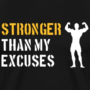Stronger Than My Excuses T-Shirts - Men's Premium T-Shirt