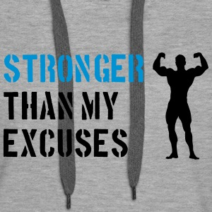 Stronger Than My Excuses Hoodies & Sweatshirts - Women's Premium Hoodie
