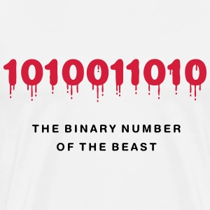 The Binary Number of the Beast - Männer Premium T-Shirt