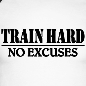 Train hard-no excuses Long sleeve shirts - Men's Long Sleeve Baseball T-Shirt