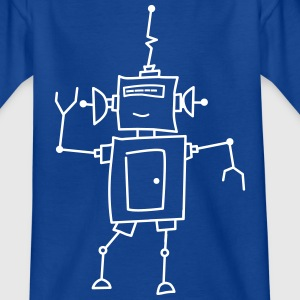 Robo Dance in Flokdruck - Kinder T-Shirt