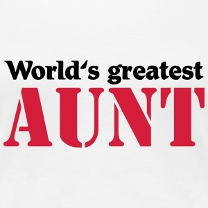 World's greatest Aunt T-shirts - Premium-T-shirt dam