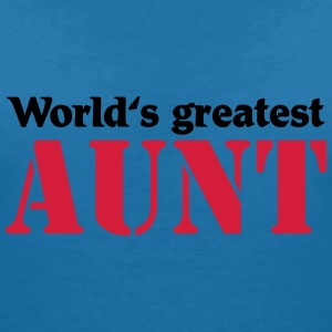 World's greatest Aunt T-shirts - Vrouwen T-shirt met V-hals