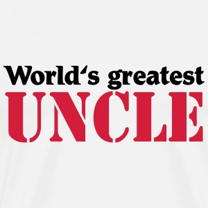 World's greatest Uncle T-skjorter - Premium T-skjorte for menn
