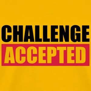 Challenge Accepted Text Logo T-Shirts - Men's Premium T-Shirt